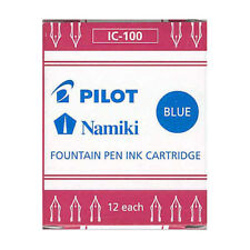 Namiki Pilot Fountain Pen Ink Cartridges, 12-pk, Blue