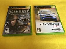 Lot 2 Jeux vidéo XBOX : Call Of Duty Le Jour De Gloire Colin Mcrae Rally 2005