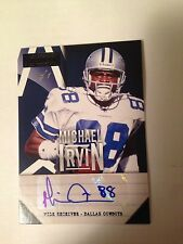 2013 Panini Playbook MICHAEL IRVIN True One Of One Autograph Card