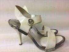 Michael Kors White Open Toe High Heel Sandals size 7.5 M