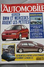 L'automobile - N° 539 - BMW 214i Mercedes 160E R19 cabriolet Espace ZX - 91