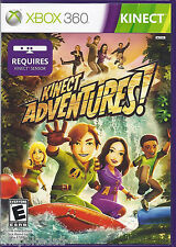KINECT Adventures Microsoft Xbox 360 COMPLETE LN/CIB Free US Padded Shipping
