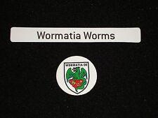 """Magnetlogo & Schriftzug """"Wormatia Worms"""" für Magnettabelle Magnet Logo 08"""