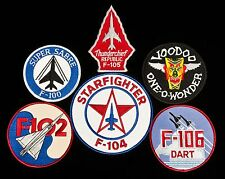 "USAF ""Century Series"" Aircraft Patches F-100, F-101, F-102, F-104, F-105, F-106"