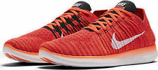 NEW Mens Nike Free RN Flyknit Running Training Shoes Crimson 831069 601 Sz 12