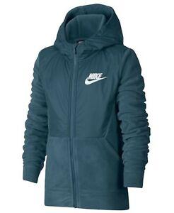 Nike sportswear big kids full zip fleece hoodie NEW Line all season AA0064 468