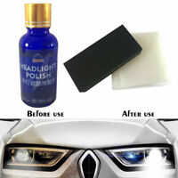 Headlight Lens Restoration Polish Liquid Polishing Scratcher Cleaner Tool 30ml