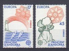 SPANISH ANDORRA, EUROPA CEPT 1986, NATURE & ART, MNH