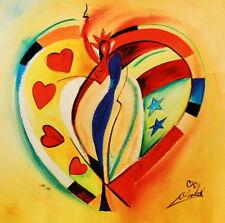 """""""American Hearts l"""" by Alfred Gockel (Fine Art on Canvas)"""