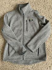Men's L.L.Bean Sweater Fleece Full-Zip Jacket Grey Heather