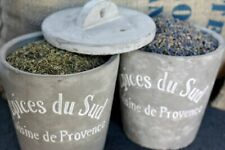 French Concrete Spice Cellar / Jar - Cement Provence Herbs Jar