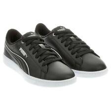 Puma Women's Vikky V2 Black Silver Leather Sneakers Walking Shoe Size 6 Walking