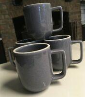 Lot of 4 SASAKI COLORSTONE Speckled Mugs in LILAC - VIGNELLI DESIGNS INC.