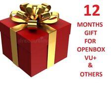 12 Months Full Gift for Openbox V8s F5 F3 Zgemma Skybox Vu -HIGH QUALITY SERVICE