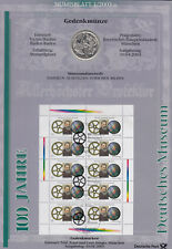 GERMANY BRD 2003 Complete set of 6 Numisblätter each with a 10 Euro coin & sheet