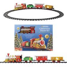 Deluxe Natale 14 pz Set treno realistico Suoni E Luce 330 cm track Albero Natale