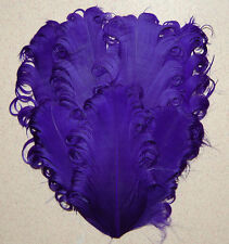 NAGORIE FEATHER PAD - SOLID PURPLE Curly Goose Pads; Craft/Art/Hats/Custome