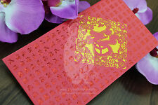 Fortune Design -Lucky Money, Hongbao, Money Envelope, Red Packet (Pack of 5 )