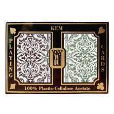 100% plastic acetate KEM JACQUARD Bridge/Jumbo playing cards -2 decks