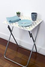 Metallic Multi-Purpose TV Tray Snacks Cocktail Desk Foldable Table Gold EBY52708