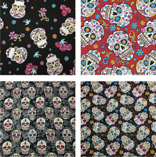 Halloween Folkloric Skull Floral Gothic Funky *CHOOSE DESIGN* Quilting Fabric