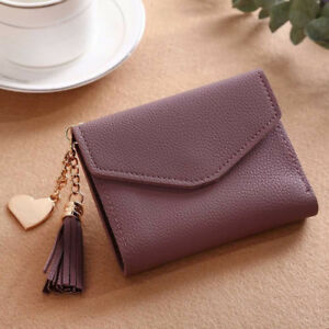 Women Casual Small Clutch Leather Short Wallet Photo Credit ID Card Holder Purse