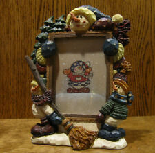 """Boyds Carver's Choice Frame #370301 BARNABY'S SNOW SWEEP SERVICES, 3.5""""x5"""" pic"""