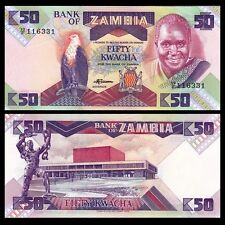 Zambia 50 Kwacha 1986-1988 Banknote Currency UNC #A232