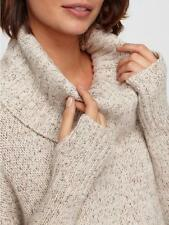 $498 BNWT Eileen Fisher Cashmere Silk MAPLE OAT Drapey Sweater w/Tumbholes L