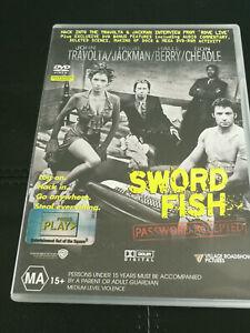 Swordfish DVD John Travolta Hugh Jackman Halle Berry Don Cheadle Action Crime