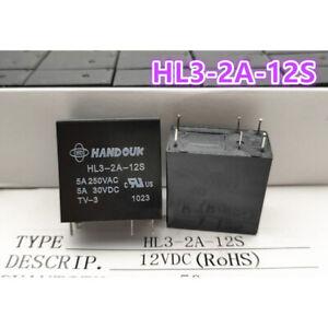 1Pc HANDOUK HL3-2A-12S 12VDC Power Relay 6Pins 5A 250VAC