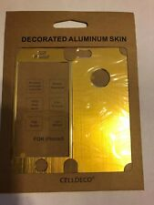 iPHONE 5 ALUMINIUM GOLD SKIN BRAND NEW AND PACKAGED