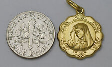 14K gold 17 mm Virgin Mary ( Madonna ) medal / pendant