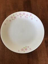 """SET of 5 Corelle Pink Cherry Blossom 8.5"""" X 3/4"""" Plates - Mint and Rare!"""