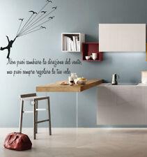adesivo murale wall stickers frase adesivi volare vita vento uccelli bird life