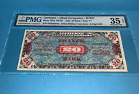 PMG Germany/Allied Occupation-WWII 1944 20 Mark with F p195a