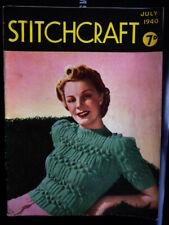 Women's Style Magazine STITCHCRAFT date July 1940