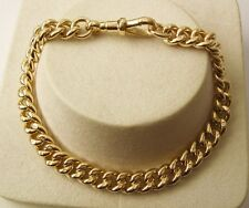 GENUINE SOLID 9K 9ct Yellow Gold ALBERT CURB Bracelet with SWIVEL CLASP