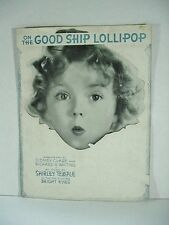 """Shirley Temple """"On the Good Ship Lollipop"""" Sheet Music - Copyright 1934"""
