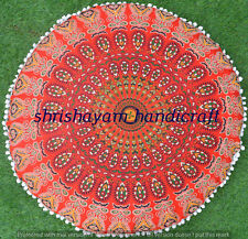 "32""Indian Round Mandala Ombre Meditation Cushion Boho Hippie Floor Decor Pillow"