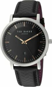 Ted Baker Male Analog Quartz Watch with Black Strap TE15193001   BRAND NEW BOXED