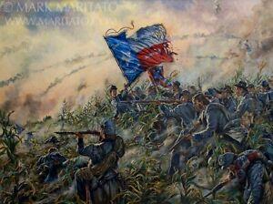 Mark Maritato Signed Civil War Limited Edition Art Print Heart of Texas Antietam