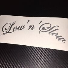 GLOSS SILVER Low'n'Slow Car Sticker Decal JDM VDUB Stance Lowered Bag Air Static