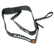 "Genuine Original OEM SONY Alpha camera strap 1 1/8"" Wide - Black - Orange"