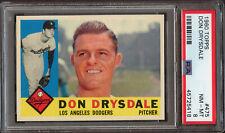 1960 Topps #475 Don Drysdale PSA 8 NM-MT
