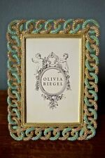 "Olivia Riegel Crystal ""Gold Chandler"" 4x6 Photo Frame New in Box"