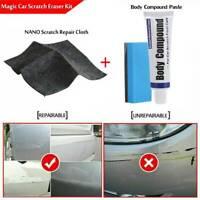 Magic Car Scratch Remover Nano Polish Cloth +Paint Scuffs Body Compound Paste AU