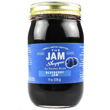 The Jam Shoppe All Natural Blueberry Jam 19 oz. Handcrafted Real Fruit Recipe