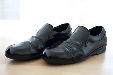 PRADA MENS BLACK LOAFERS LEATHER MOCCASINS SHOES SIZE US 11 MADE ITALY 2D1332 10