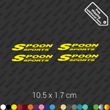 x4 Spoon Sports wheel rims sticker Slipstream Rota restoration decal kit- Yellow